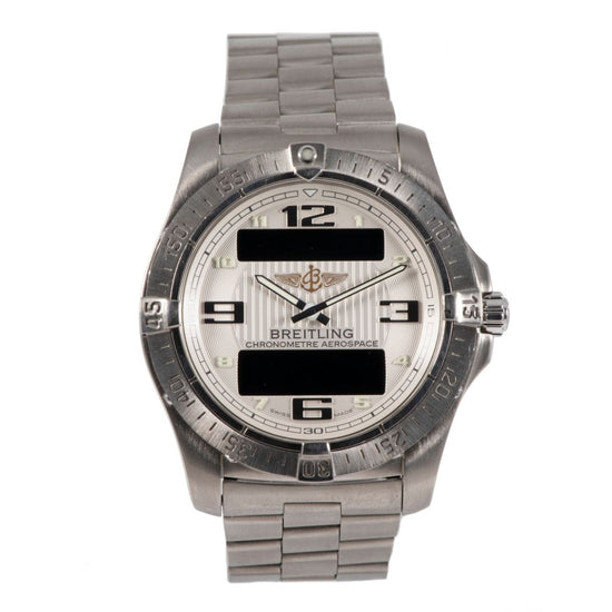 Breitling Aerospace E79362 Titanium & Cream 42mm Mens Watch
