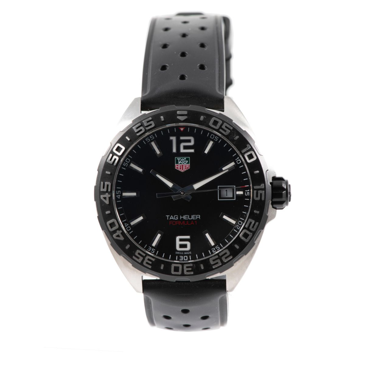 Tag Heuer F1 WAZ1110 41mm Mens Watch Steel & Black
