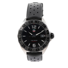Load image into Gallery viewer, Tag Heuer F1 WAZ1110 41mm Mens Watch Steel & Black