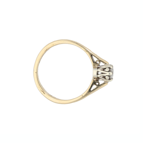 9ct Gold Diamond Ladies Solitaire Ring Size M