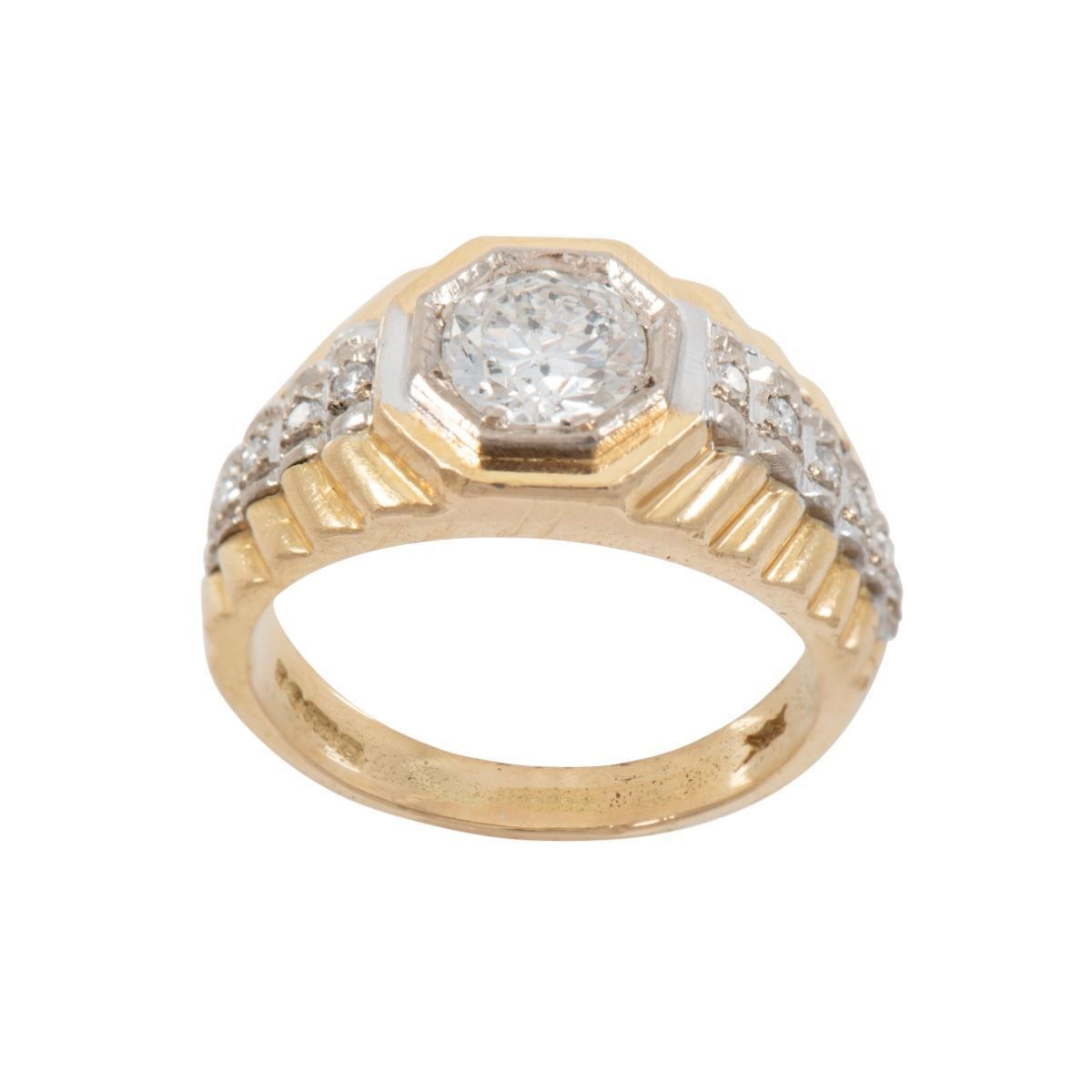 1.12ct Diamond Accent Solitaire Ring (Q)