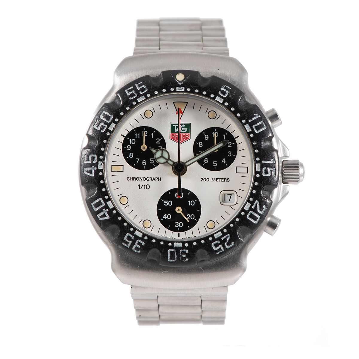 Tag Heuer F1 CA1212-RO Steel & Cream 36mm Mens Watch