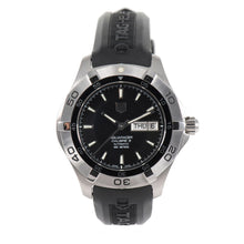 Load image into Gallery viewer, Tag Heuer Aquaracer WAF2010 Steel & Black 43mm Mens Watch