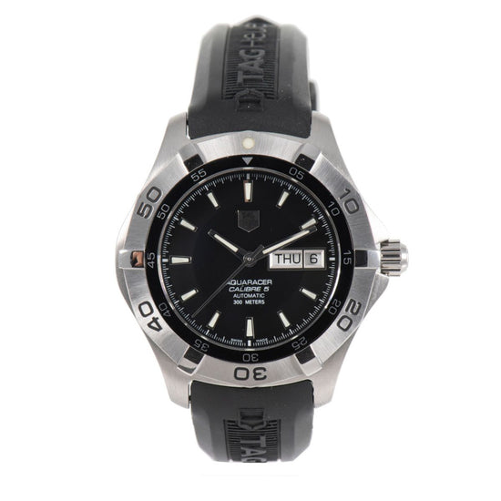 Tag Heuer Aquaracer WAF2010 Steel & Black 43mm Mens Watch