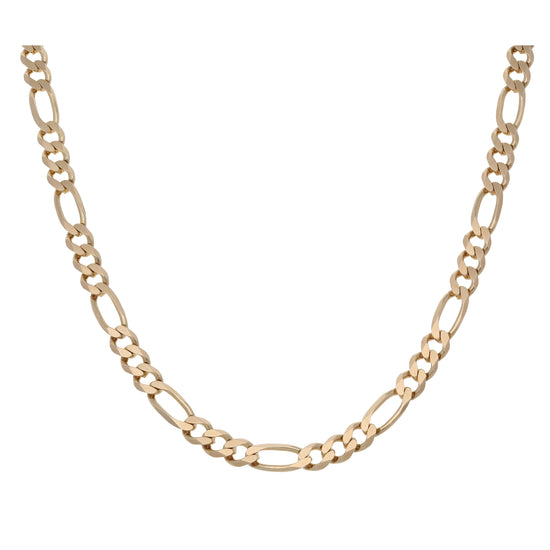 9ct Gold Ladies Curb Chain 16""