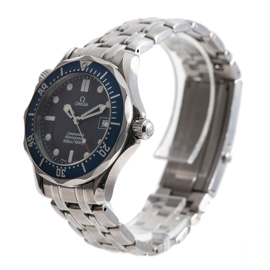 Omega Seamaster Steel and Blue 36mm Mens Watch