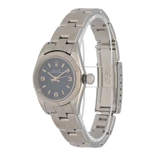 Rolex Oyster Perpetual 76094 24mm Stainless Steel Ladies Watch