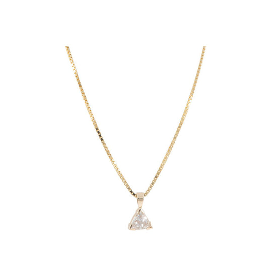 9ct Yellow Gold 1.69ct Diamond Solitaire Pendant Ladies 18 Inches