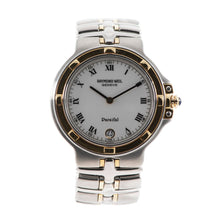 Load image into Gallery viewer, Raymond Weil Parsifal Quartz 9190 34mm White & Bi metal Mens Watch