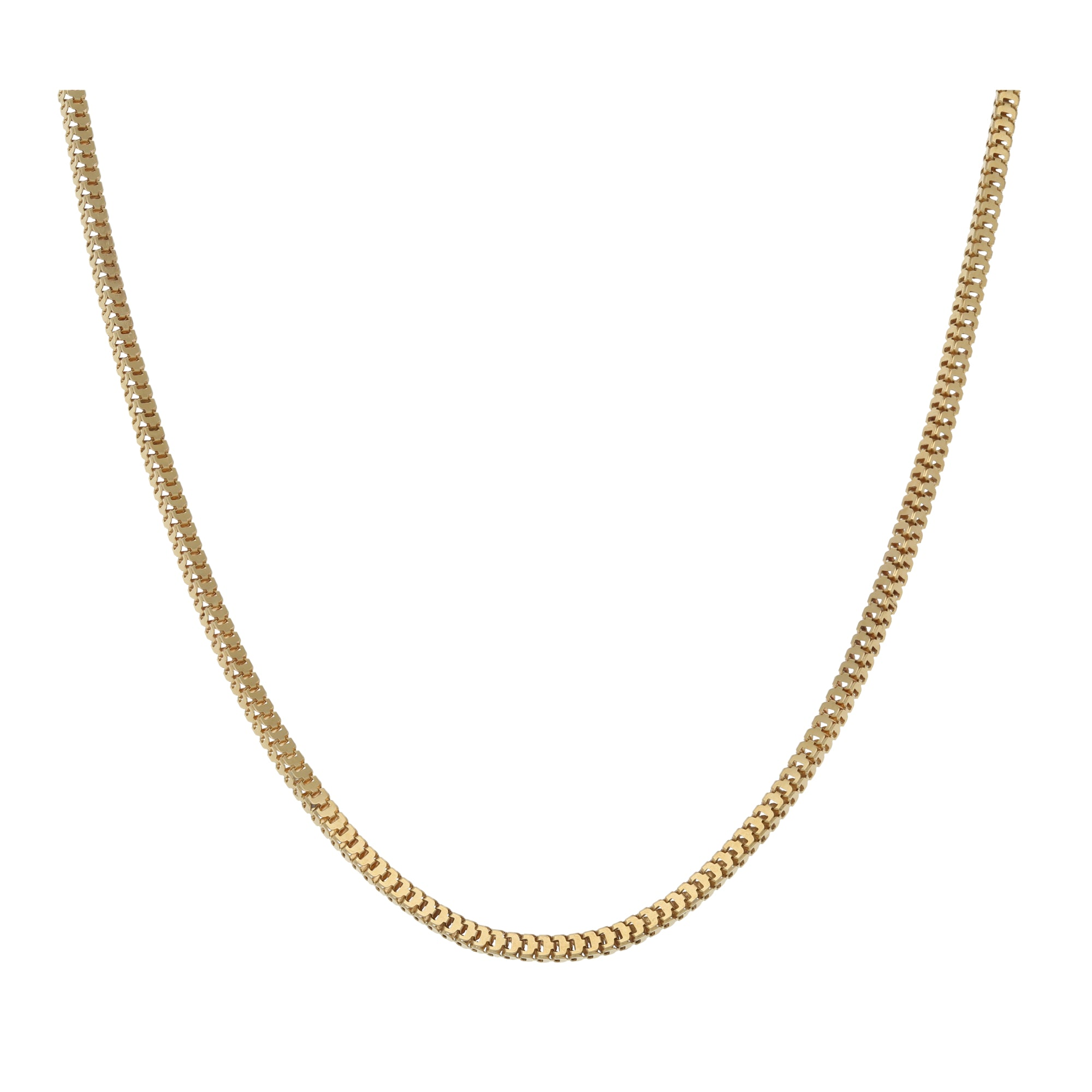 18ct Gold Ladies Fancy Necklace 20