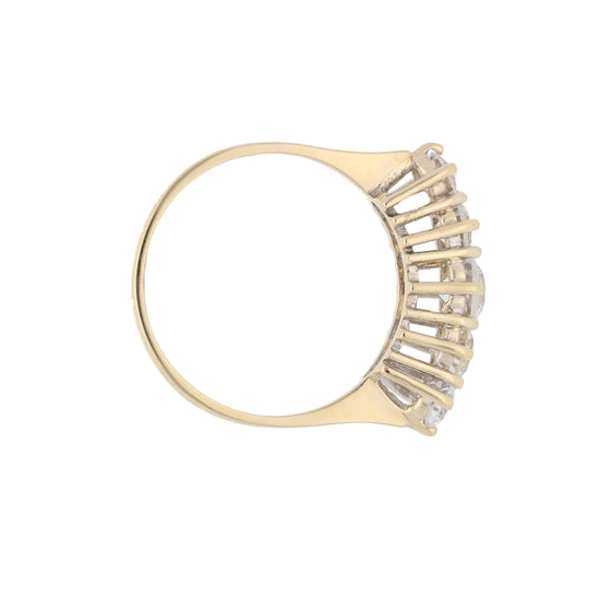9ct Gold Cubic Zirconia Ladies Half Eternity Ring Size P