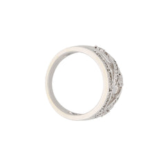 Load image into Gallery viewer, Silver Sterling Diamond Ladies Dress Cocktail Ring Size K