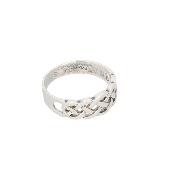 Silver Sterling Ladies Alternative Ring Size M