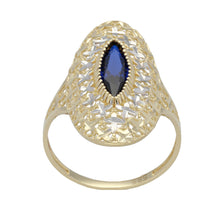 Load image into Gallery viewer, 14ct Bicolour Gold Ladies Dress/Cocktail Ring Size U