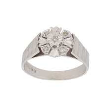 Load image into Gallery viewer, 18ct White Gold Diamond Ladies Dress Cocktail Ring Size M