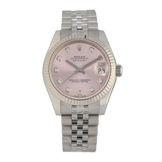 Rolex Datejust 178274 31mm Pink Dial Watch