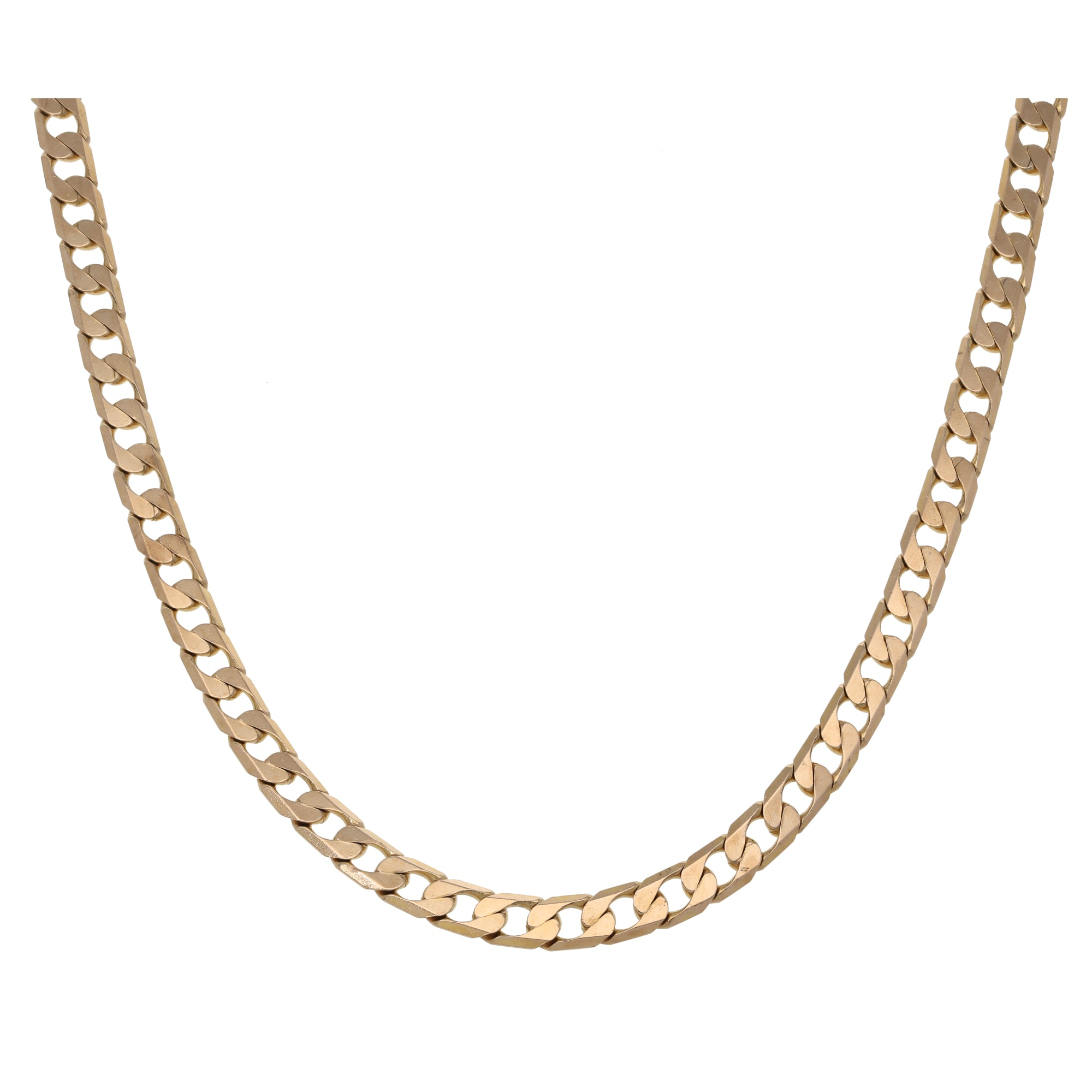 9ct Gold Ladies Curb Chain 18