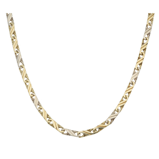 14ct Bicolour Gold Ladies Other Chain 18""