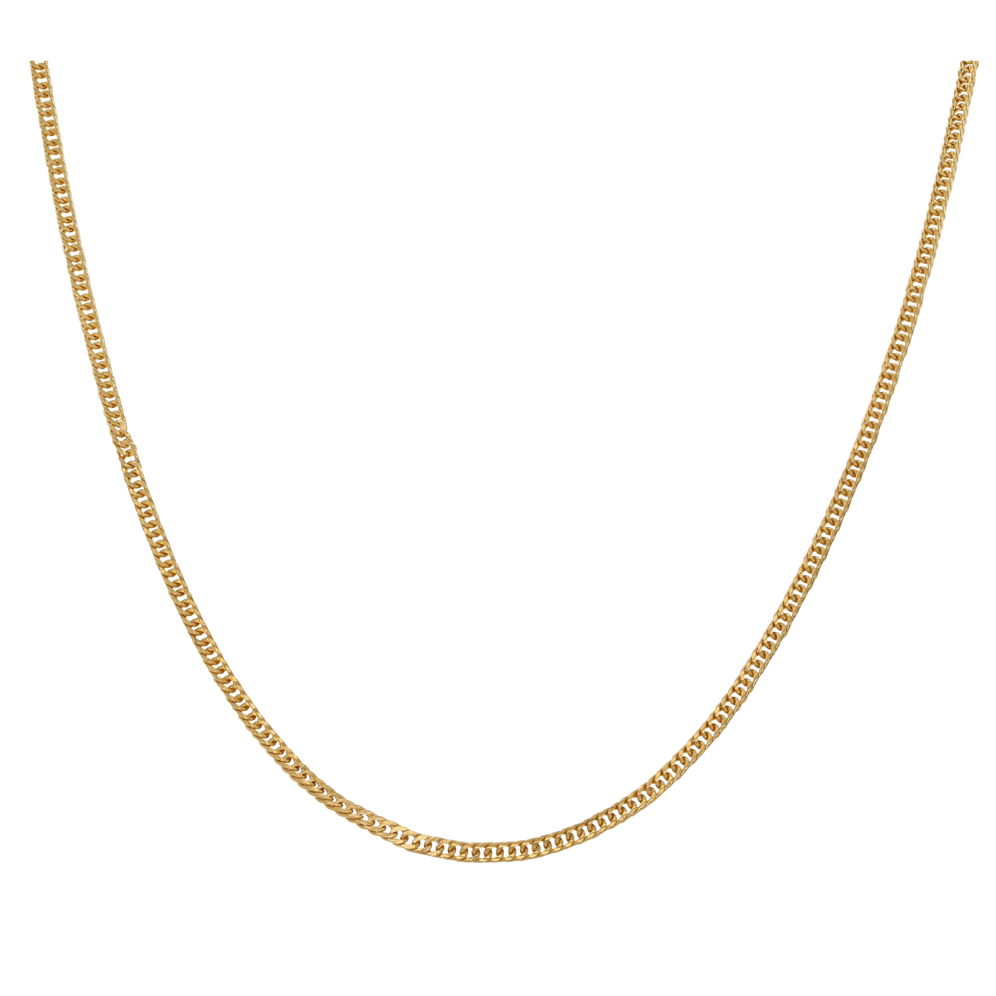 22ct Gold Ladies Curb Chain 26
