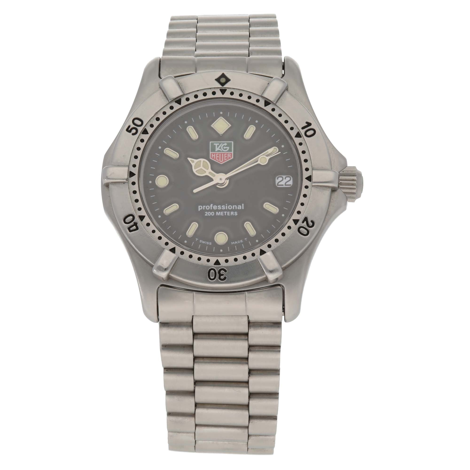 Tag Heuer 2000 Series WE1210-R 32mm Stainless Steel Ladies Watch