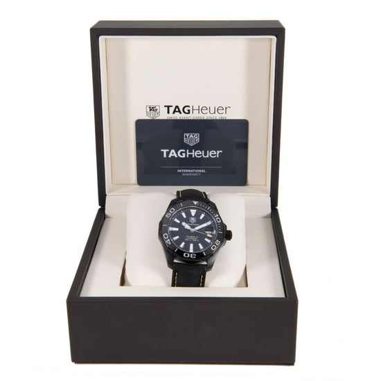 Tag Heuer Aquaracer Automatic WAY218A-0 Black Dial 41mm Mens Watch