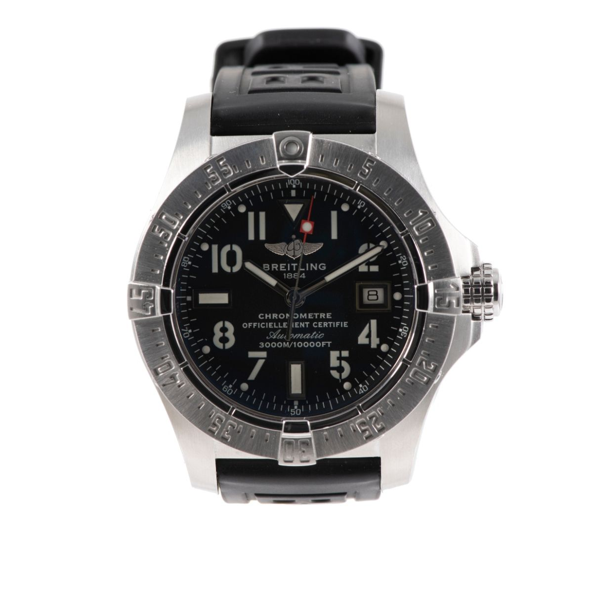 Breilting Avenger Seawolf A17330 Steel & Black 45mm Mens Watch