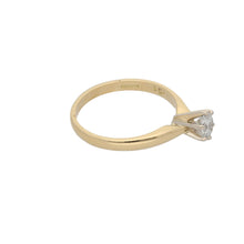Load image into Gallery viewer, 18ct Gold Diamond Ladies Solitaire Ring Size N
