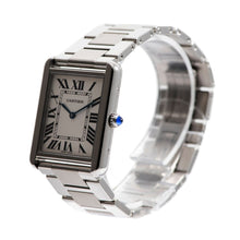 Load image into Gallery viewer, Cartier Tank Solo 3169 Steel & Grey 27mm Watch Mens