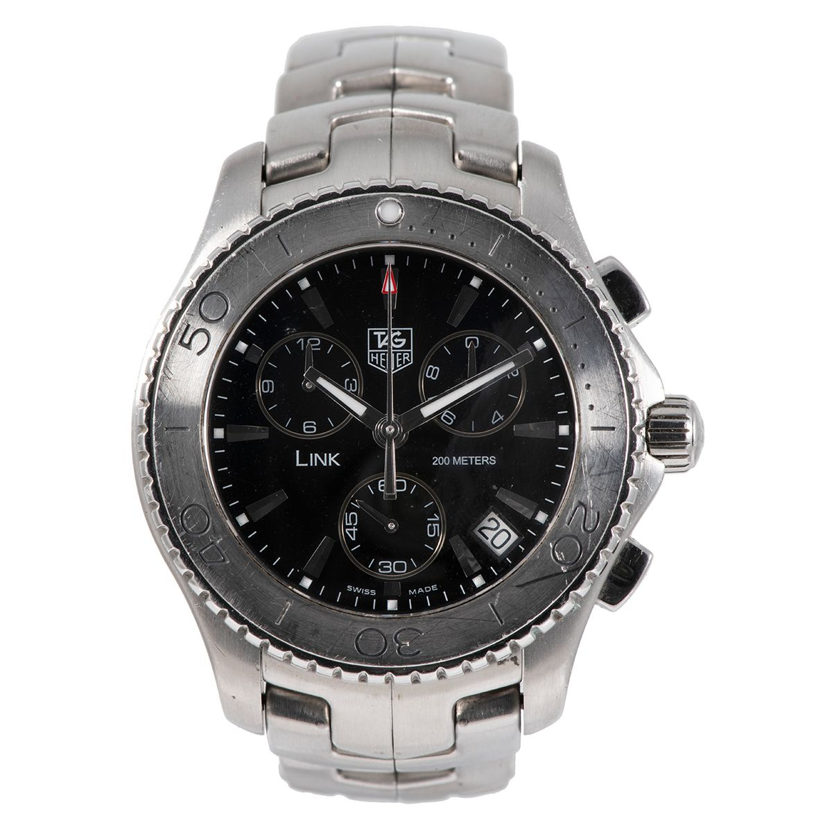 Tag Heuer Link CJ1110 Steel & Black 42mm Mens Watch