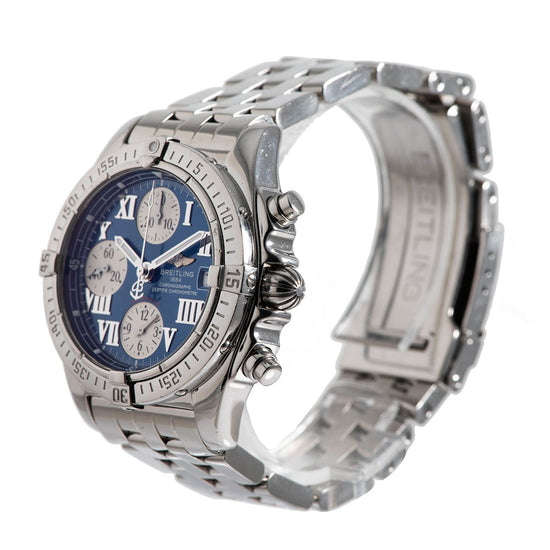 Breitling Cockpit A13358 Steel & Blue 39mm Mens Watch