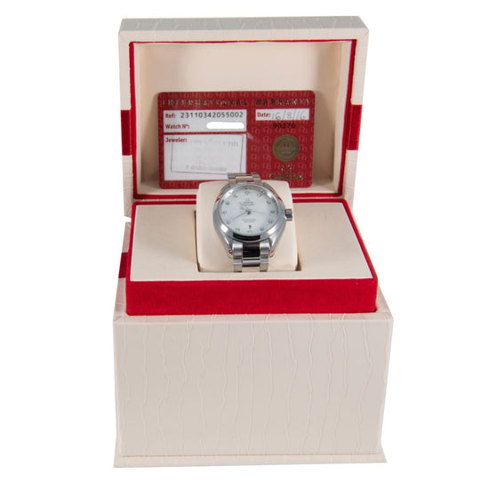 Omega Seamaster Aqua Terra 34mm Stainless Steel Mens Watch