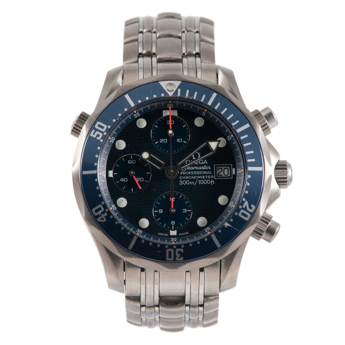 Omega Seamaster Titanium & Blue Chronograph 41.5mm Mens Watch