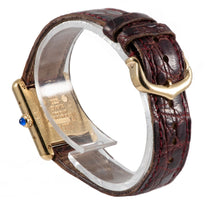 Load image into Gallery viewer, Cartier Must De 366001 Gold Plated Silver & Burgundy 20.5mm Ladies Watch