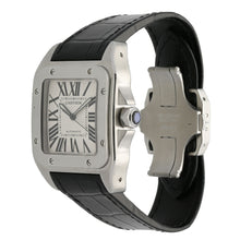 Load image into Gallery viewer, Cartier Santos 100 2656 Stainless Steel & White 38mm Mens Watch
