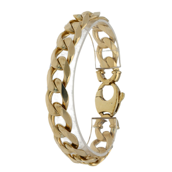 9ct Yellow Gold Mens Curb Bracelet 20.5cm