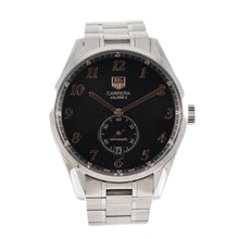 Load image into Gallery viewer, Tag Heuer Carrera WAS2114 Steel & Black 39mm Mens Watch