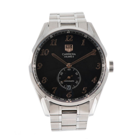 Tag Heuer Carrera WAS2114 Steel & Black 39mm Mens Watch