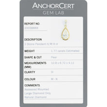 Load image into Gallery viewer, 9ct Yellow Gold 1.97ct Diamond Double Stone 22mm Pendant