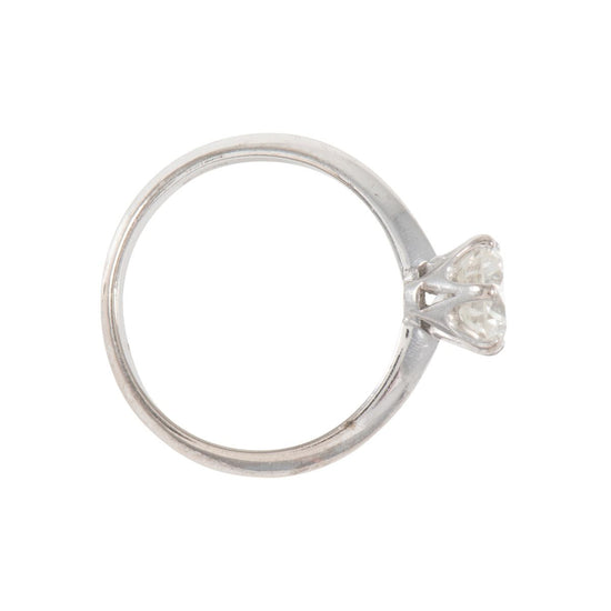 18ct White Gold 1.00ct Diamond Solitaire Ladies Ring Size L