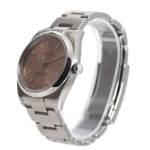 Load image into Gallery viewer, Rolex Oyster Perpetual 114200 Steel & Salmon 34mm Unisex Watch