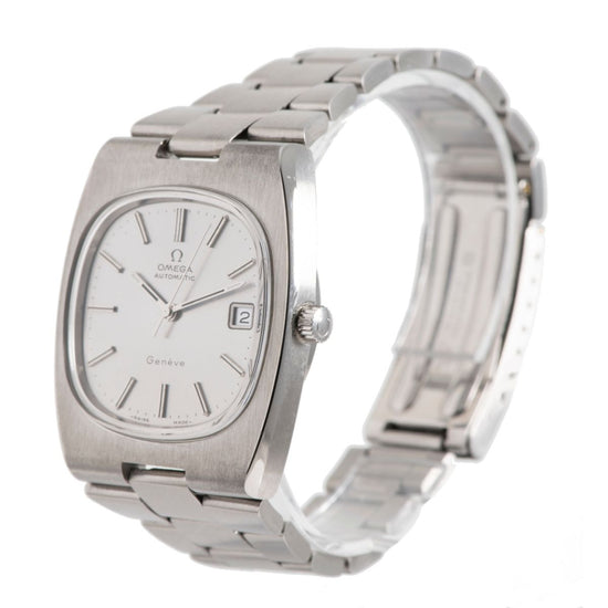 Omega Vintage Steel and Grey 36mm Mens Watch