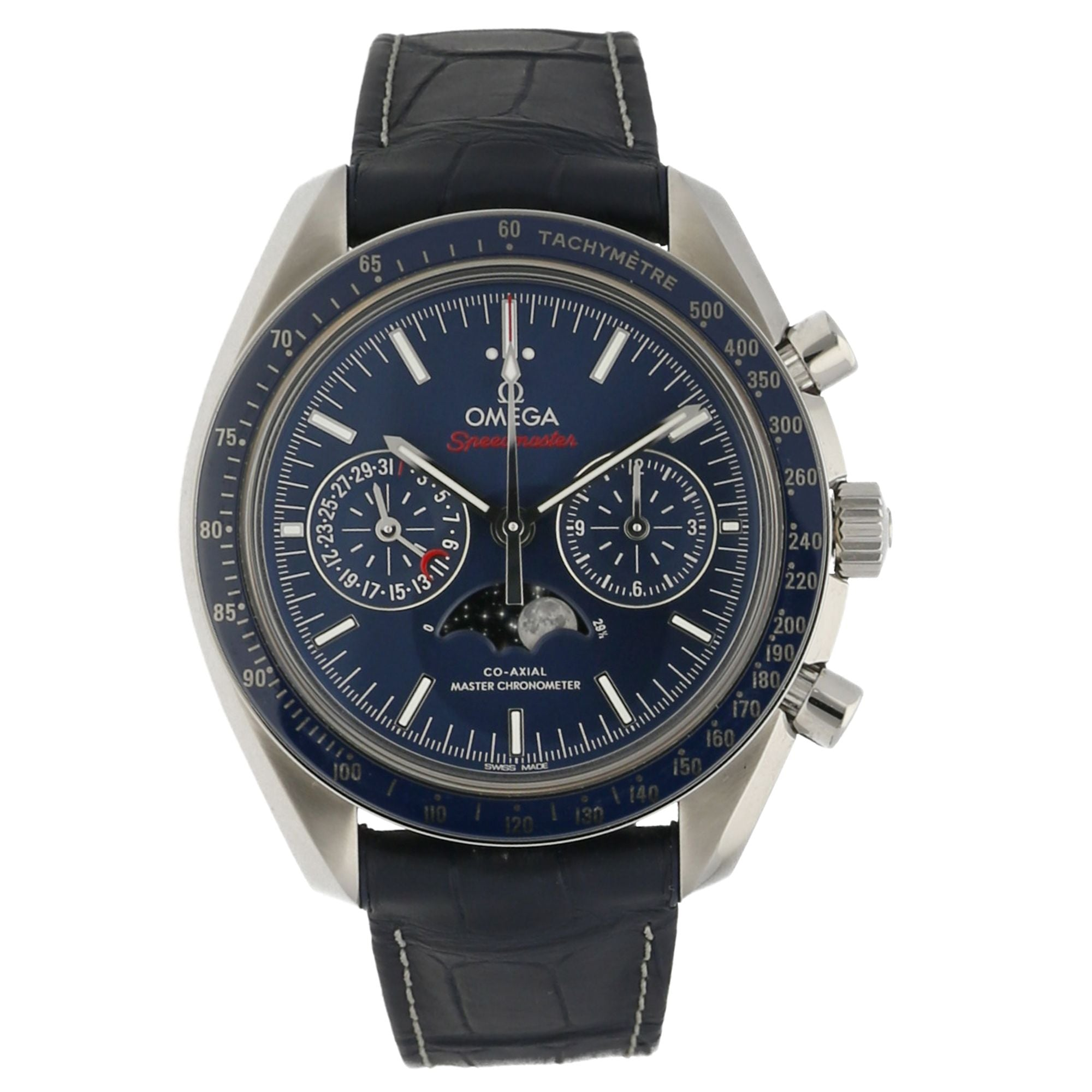 Omega Speedmaster 304.33.44.52.03.001 Steel & Blue 44.2mm Mens Watch