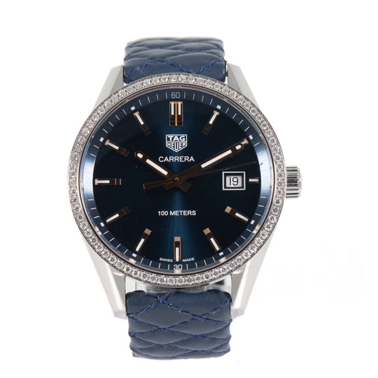 Tag Heuer Carrera WAR1114 Quartz 39mm Blue Watch