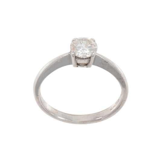 18ct White Gold 0.67ct Diamond Solitaire Ring Size N QKQV7