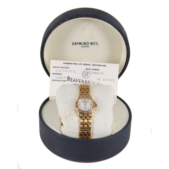 Raymond Weil Tango Quartz 5860 Mop Dial Diamond Set 23mm Ladies Watch
