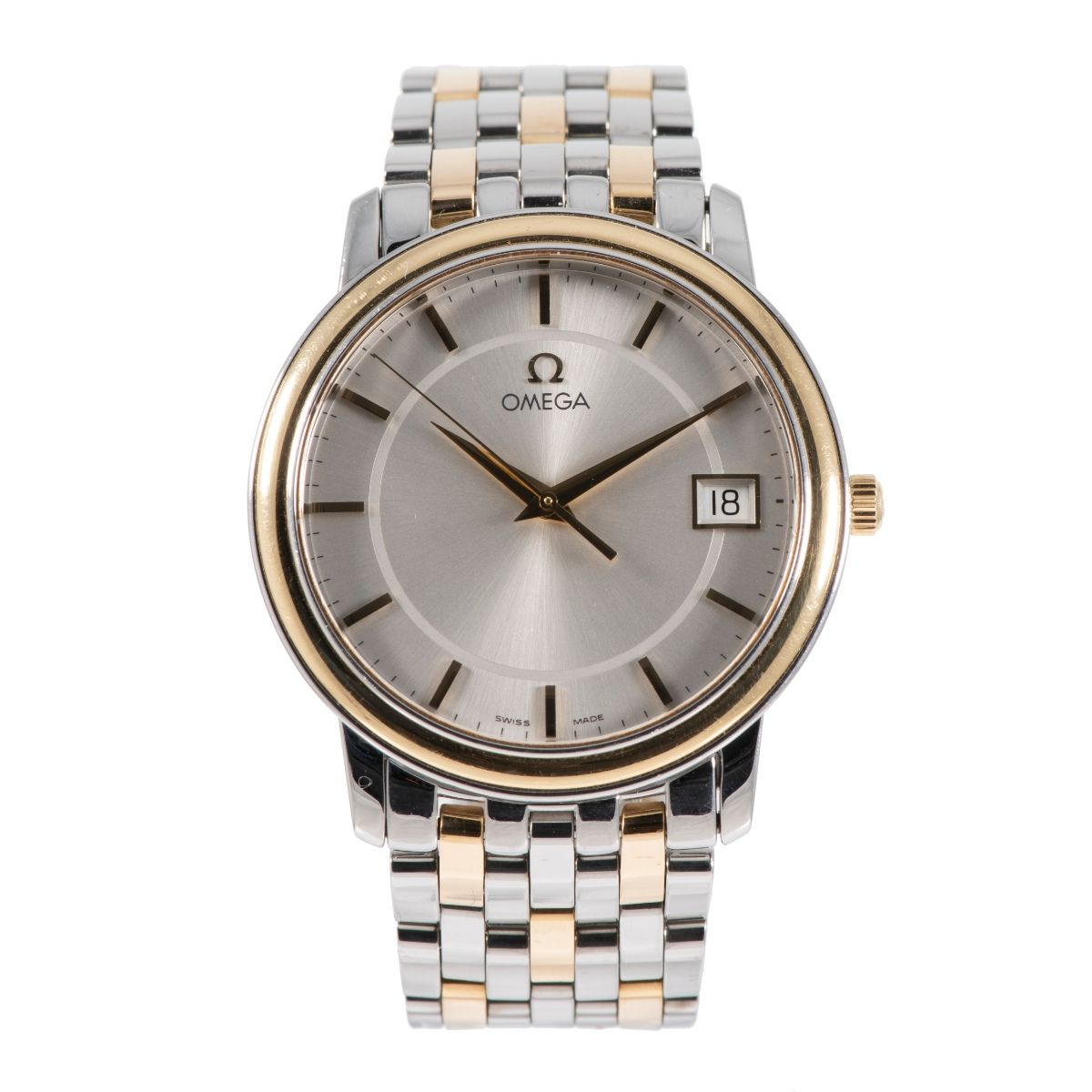 Omega De Ville Bi-Colour & Grey 34.5mm Mens Watch Q7LRV8