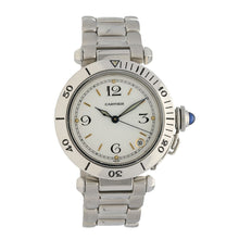 Load image into Gallery viewer, Cartier Pasha Stainless Steel & Cream 36mm Mens Watch