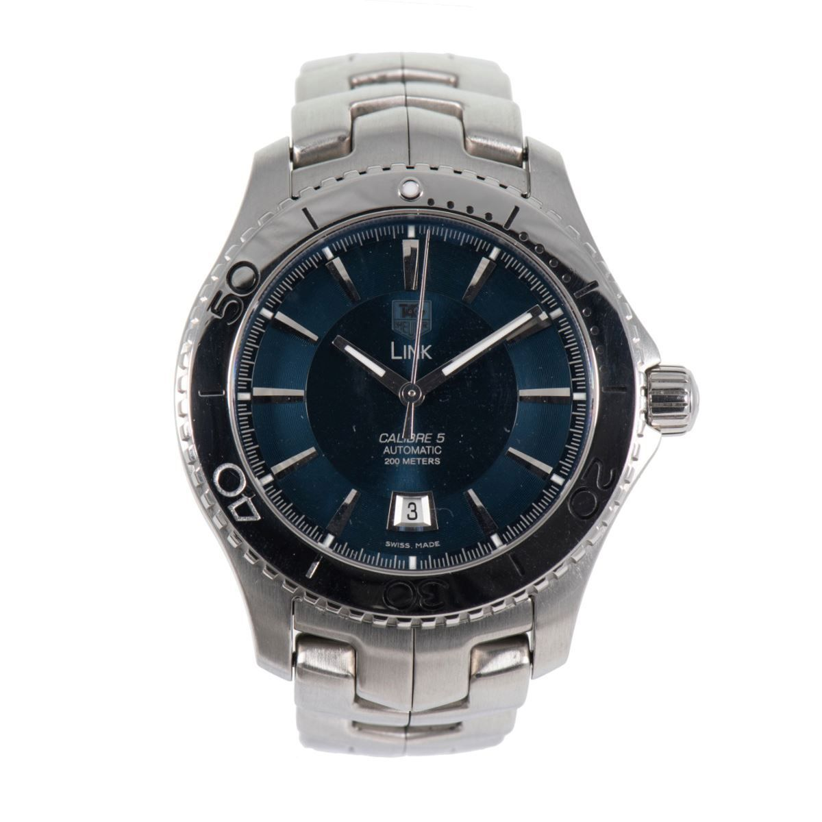 Tag Heuer Link Automatic WJ201C Stainless Steel Blue Dial 42mm Mens Watch