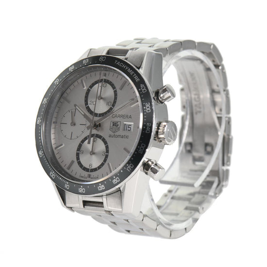 Tag Heuer Carrera Automatic Chronograph CV2011 Steel Grey Dial 41mm Mens Watch