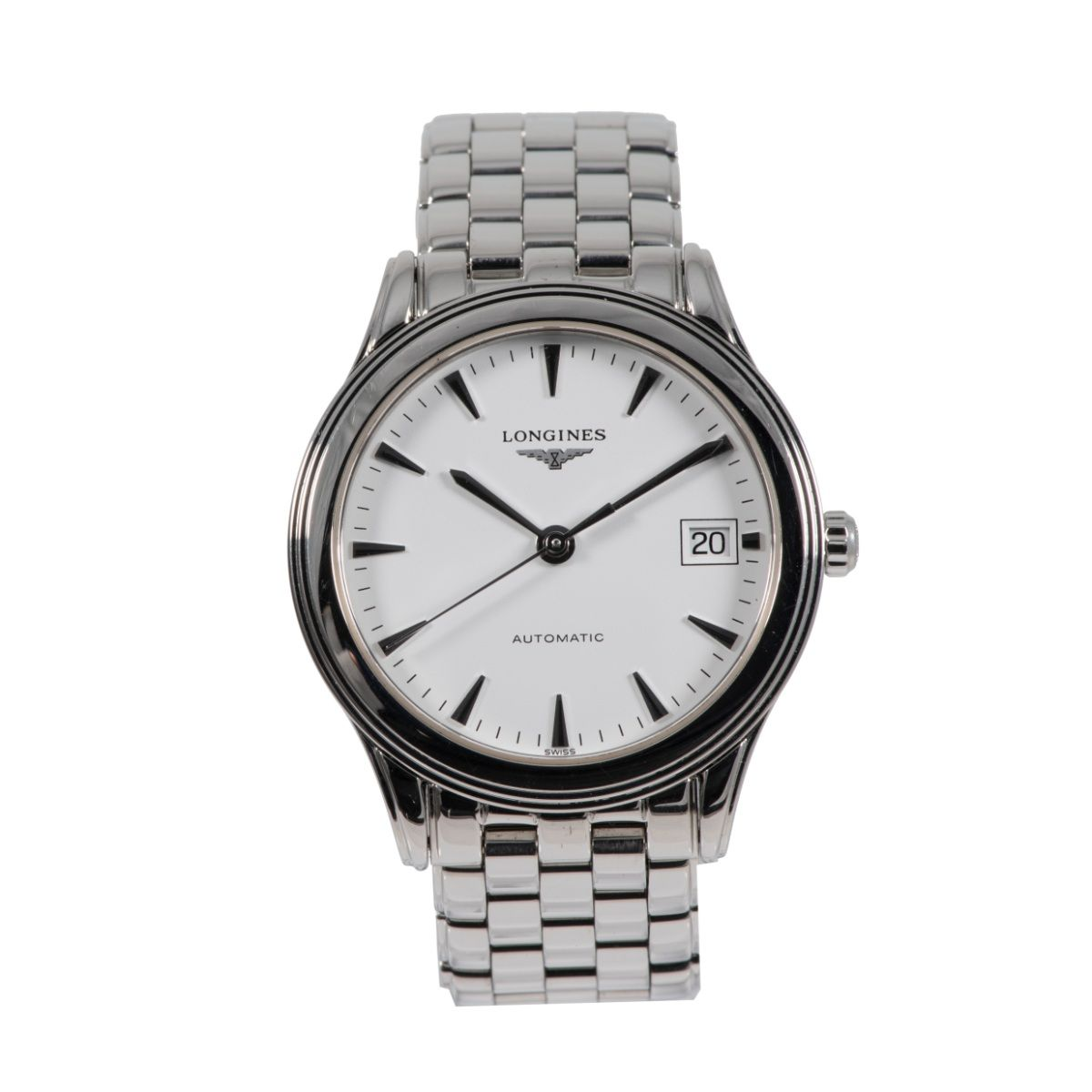 Longines Flagship L4.774.4 Steel & White 35mm Mens Watch